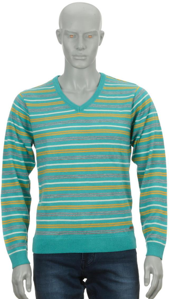 Park Avenue | Park Avenue Medium Blue Regular Fit Sweater