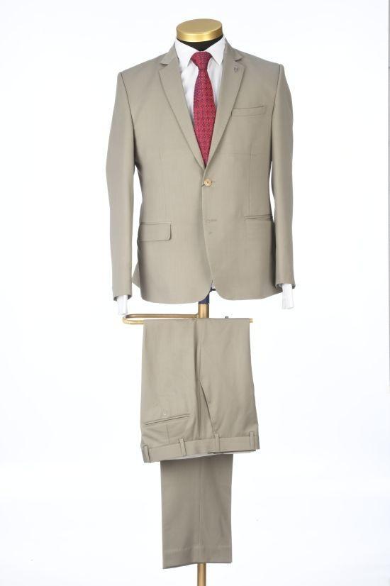 Park Avenue | Park Avenue Solid Brown Slim Fit Suits