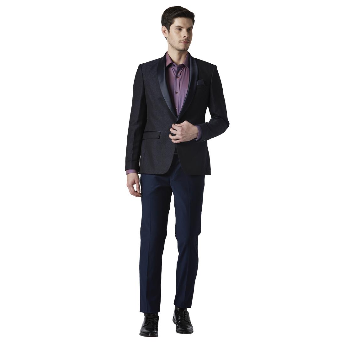 Park Avenue | Park Avenue Dark Blue Super Slim Fit Suits