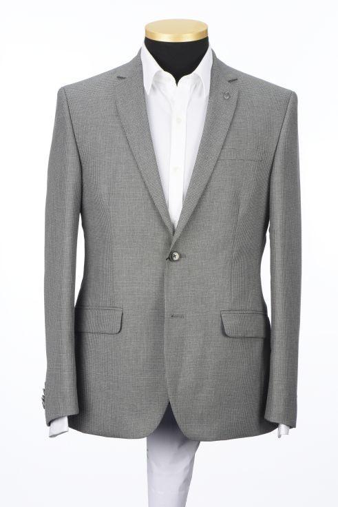 Park Avenue Checkered Grey Slim Fit Blazers