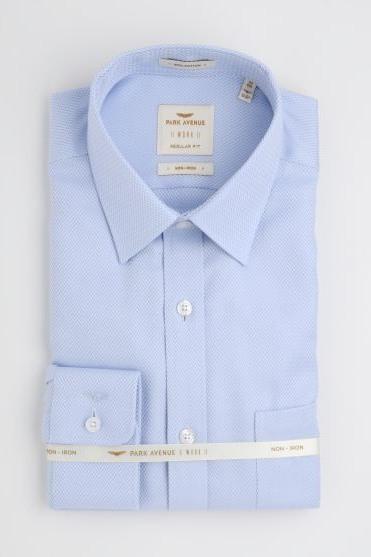 Park Avenue | Park Avenue Solid Blue Regular Fit Shirts