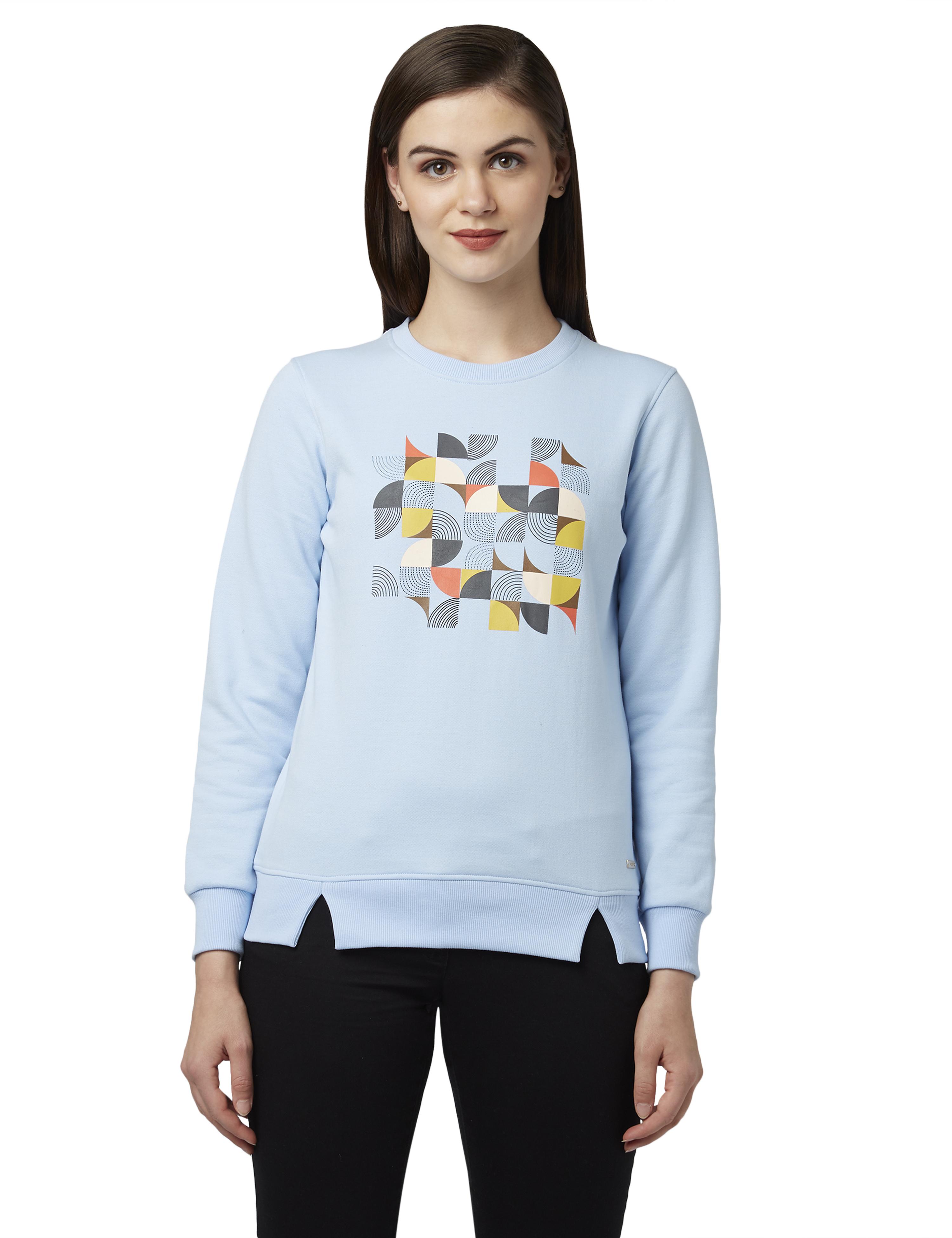 Park Avenue   Park Avenue Woman Blue Sweatshirt