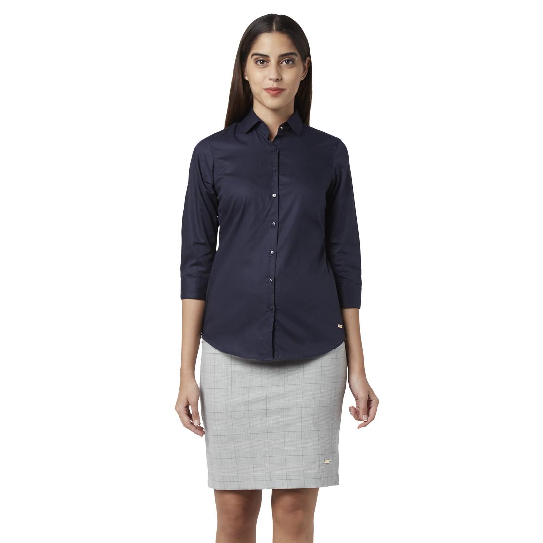 Park Avenue   Park Avenue Woman Blue Shirt