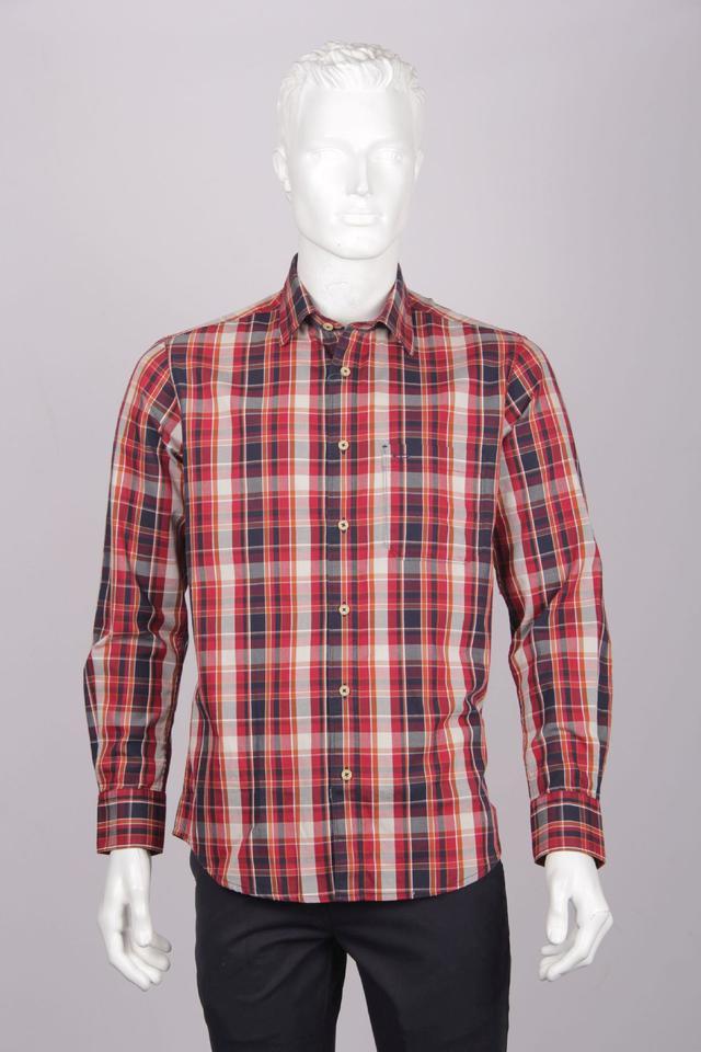 ColorPlus | ColorPlus Dark Red Regular Fit Shirts