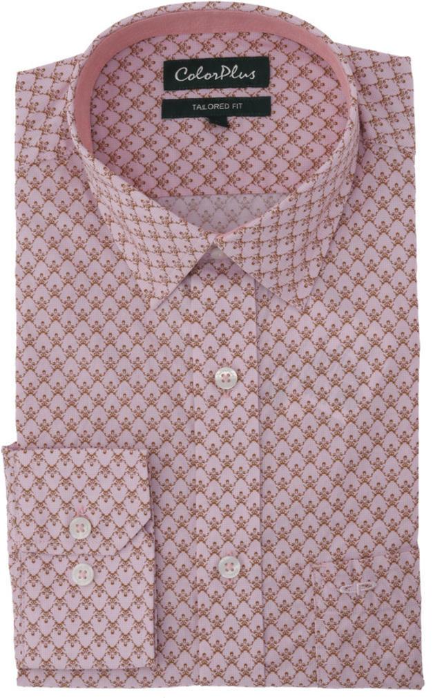 ColorPlus   ColorPlus Medium Brown Tailored Fit Shirts