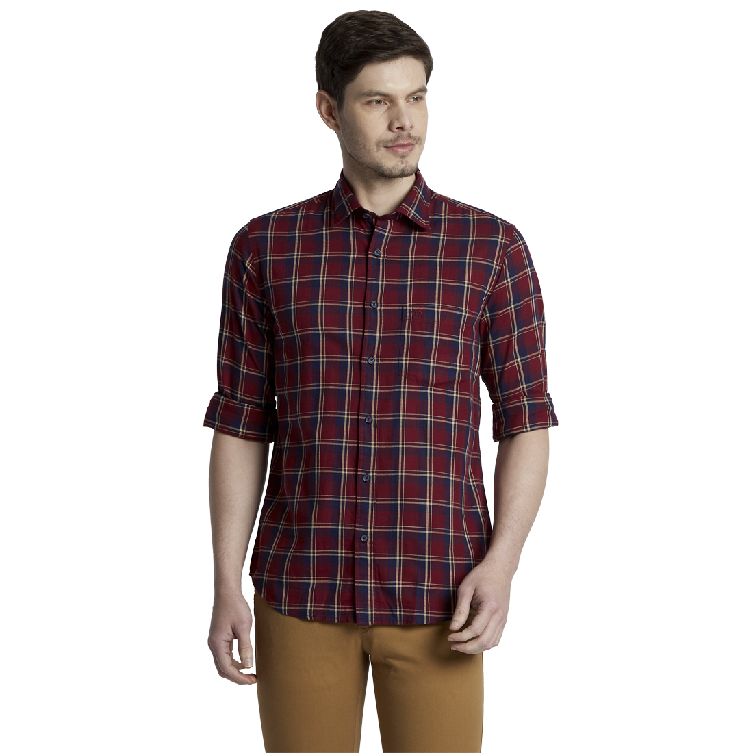 ColorPlus | ColorPlus Dark Red Tailored Fit Shirts