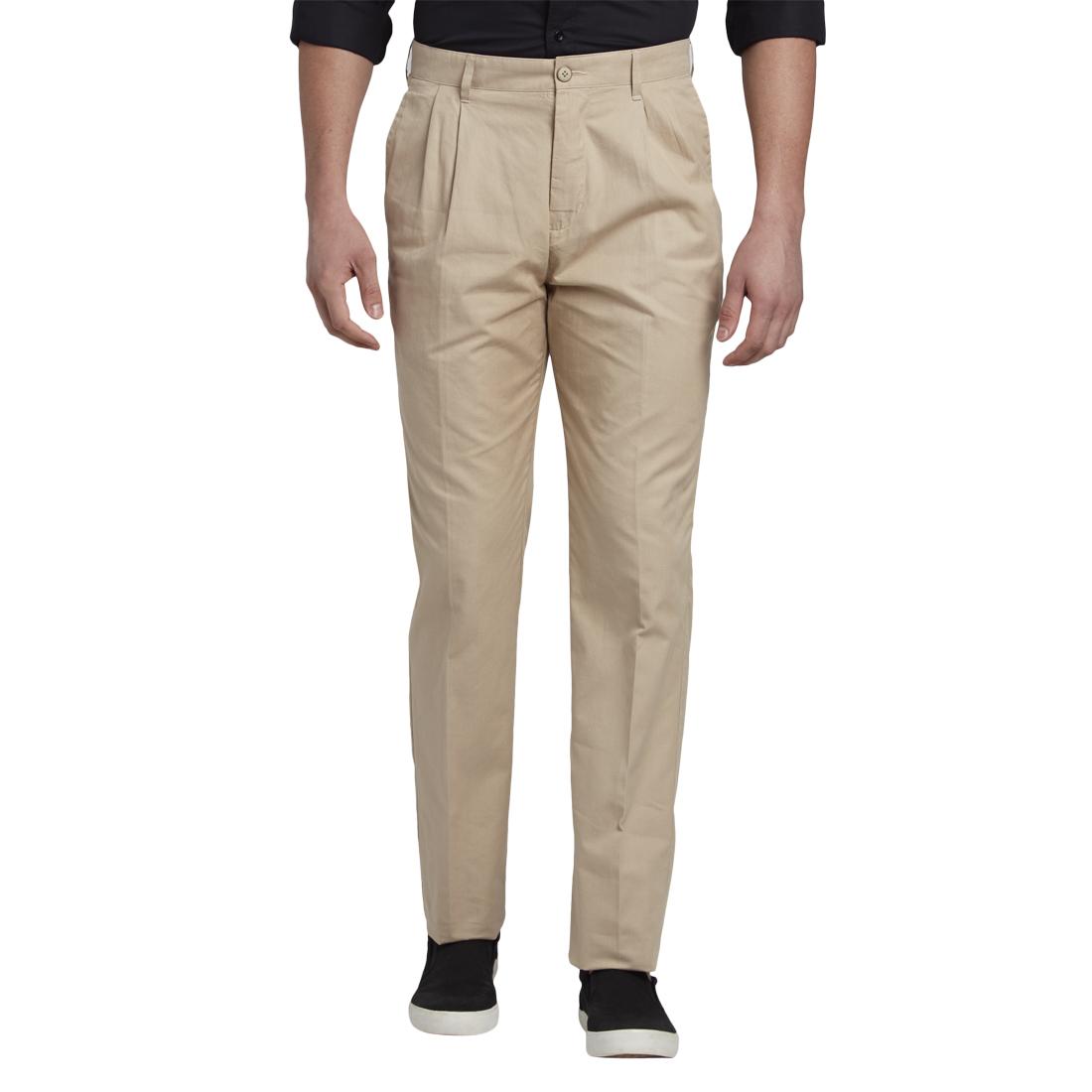ColorPlus | ColorPlus Medium Fawn Regular Fit Trouser