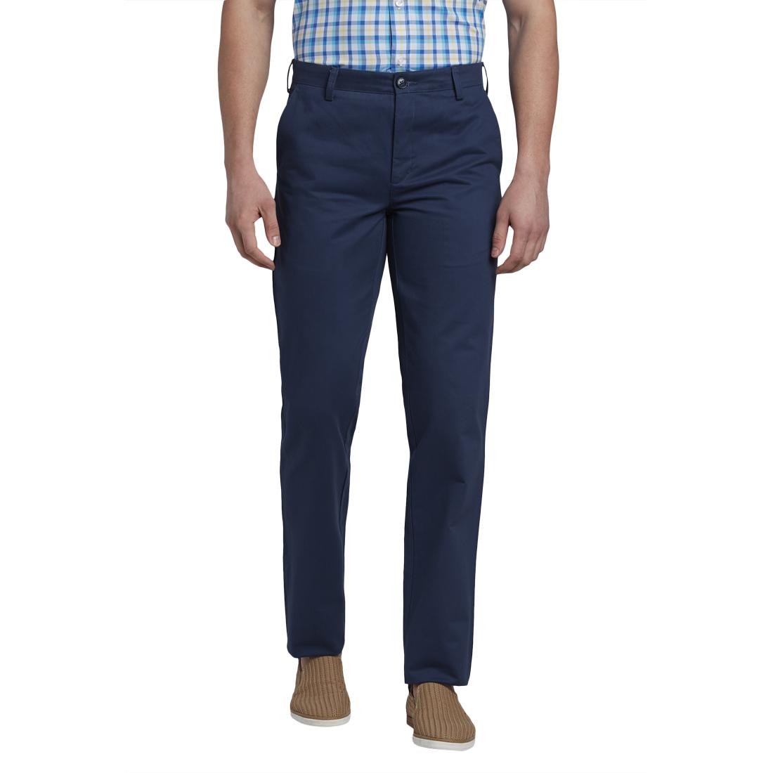 ColorPlus | ColorPlus Dark Blue Tailored Fit Trouser