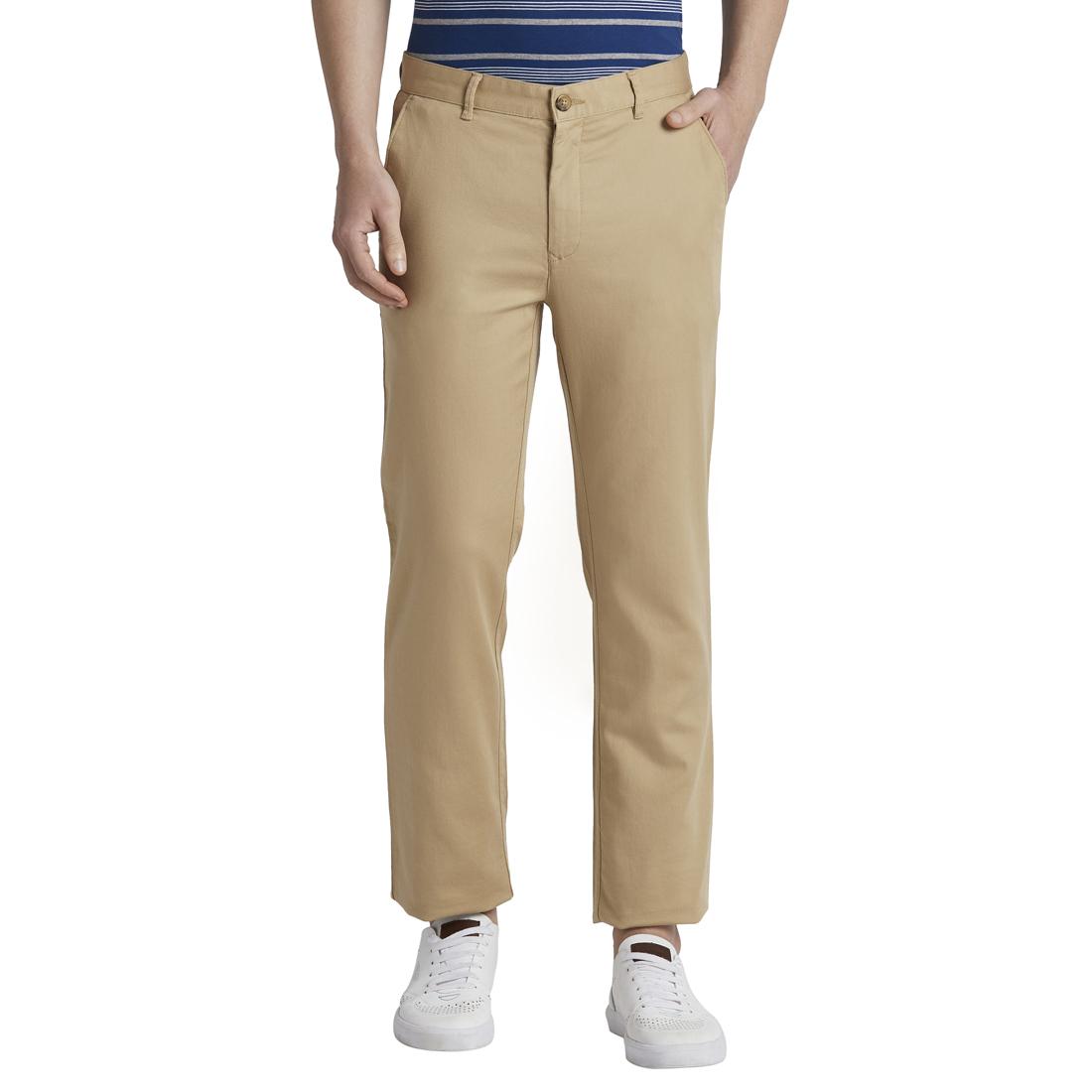 ColorPlus | ColorPlus Medium Khaki Tailored Fit Trouser