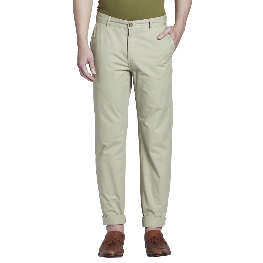 ColorPlus | ColorPlus Medium Fawn Tailored Fit Trouser