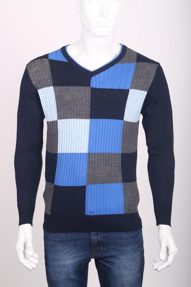 ColorPlus | ColorPlus Medium Blue Tailored Fit Sweater