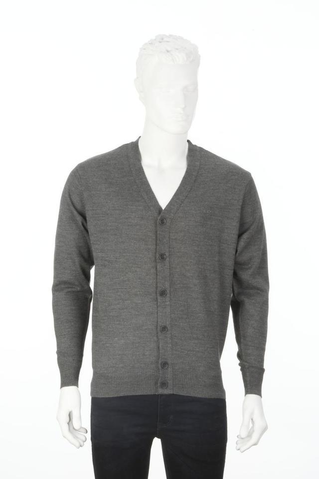 ColorPlus | ColorPlus Solid Grey Slim Fit Sweater