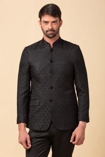 Ethnix by Raymond | ethnix by Raymond Black Bandhgala Jacket