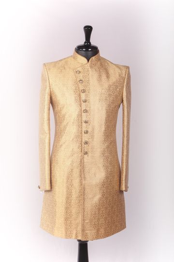 Ethnix by Raymond | Beige Indowestern Kurta with Breeches
