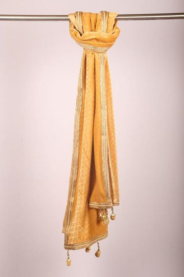 Ethnix by Raymond | Light Yellow Dupatta