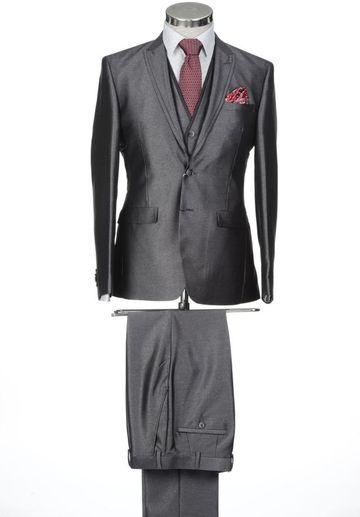 Park Avenue | Park Avenue Dark Grey Super Slim Fit Suits
