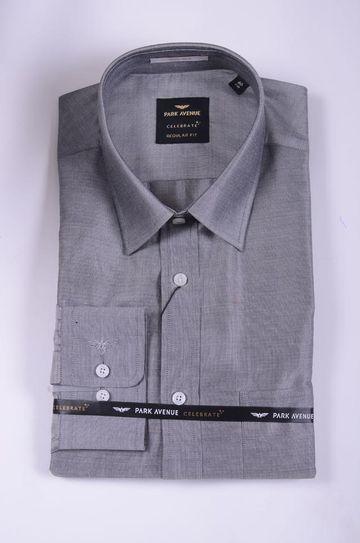 Park Avenue   Park Avenue Medium Grey Regular Fit Shirts