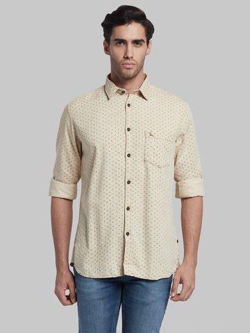 PARX   XMSS08691F6 Dark Fawn Casual Shirt