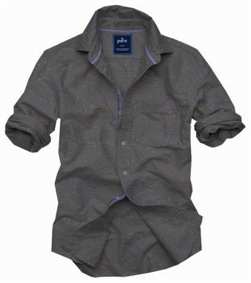 PARX   XMSS09202G5 Medium Grey Casual Shirt