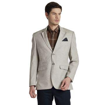 ColorPlus   ColorPlus Solid Grey Regular Fit Blazers