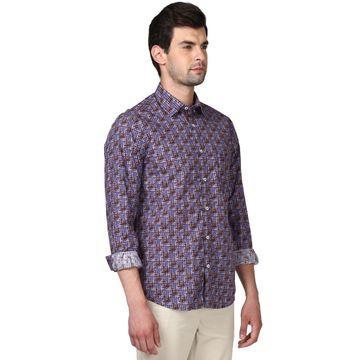 ColorPlus | Cotton Purple Tailored Fit Shirts