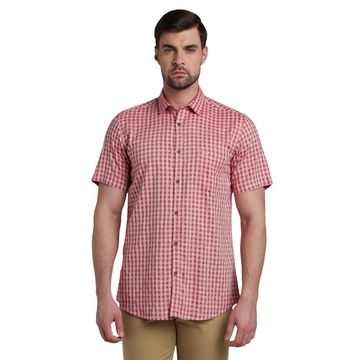 ColorPlus | ColorPlus Checkered Red Slim Fit Shirts