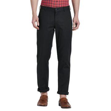 ColorPlus | ColorPlus Solid Black Regular Fit Trousers