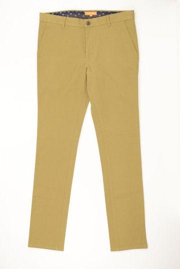 ColorPlus   ColorPlus Solid Khaki Regular Fit Trousers
