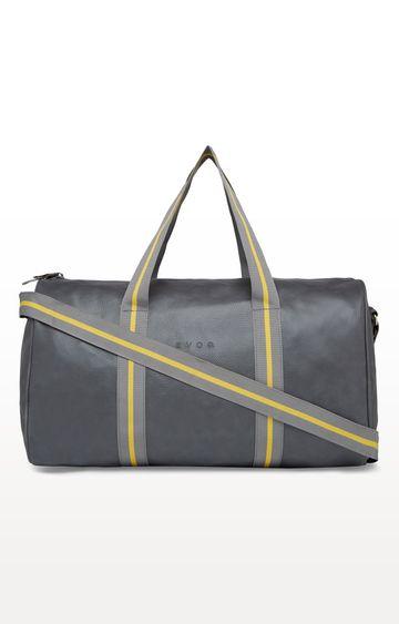 EVOQ | Grey Classic Vegan Duffle Bag