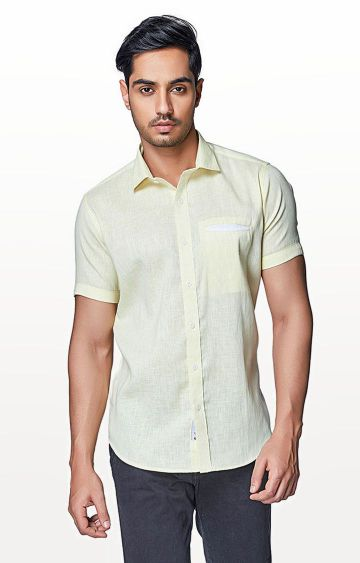 EVOQ | Yellow Solid Casual Shirt