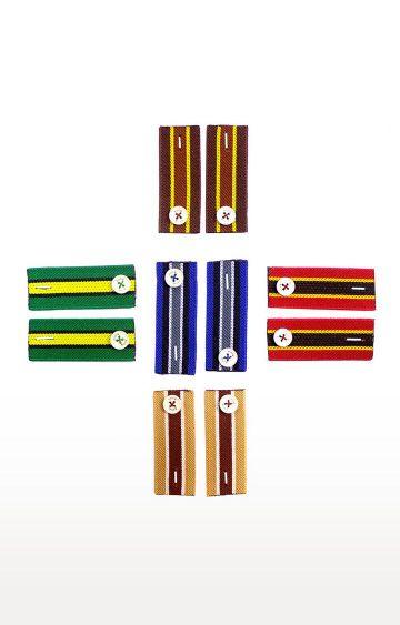 EVOQ | Multicoloured Striped Cuff Band - Set of 5