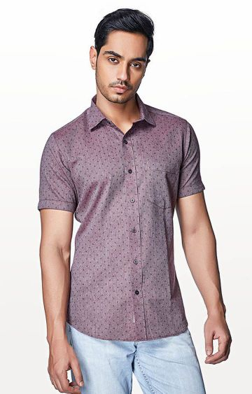 EVOQ | Pink Printed Casual Shirt