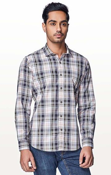 EVOQ | Pink Checked Casual Shirt