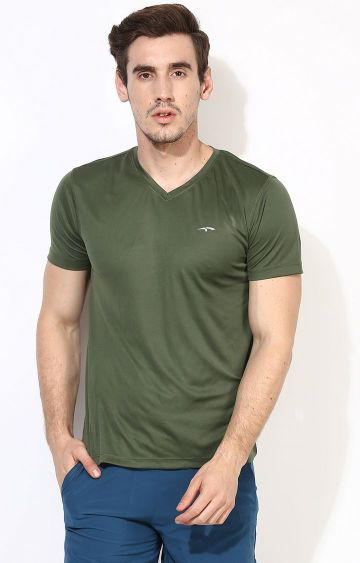Furo | Green Solid T-Shirt