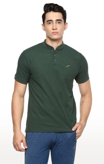 Furo | Dark Green Solid T-Shirt