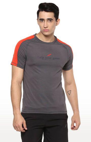 Furo | Grey Striped T-Shirt
