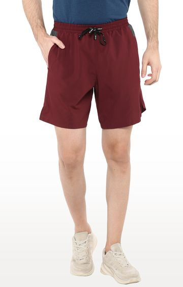 Furo | Maroon Solid Shorts