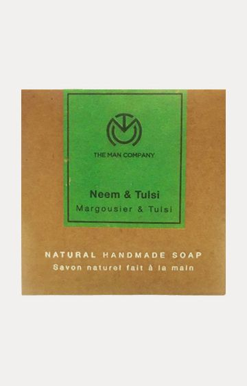 The Man Company | Neem & Tulsi Handmade Soap - 125 GM