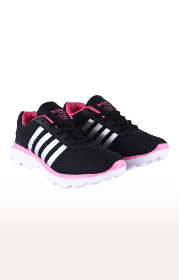Action | Black and Pink Running Shoes