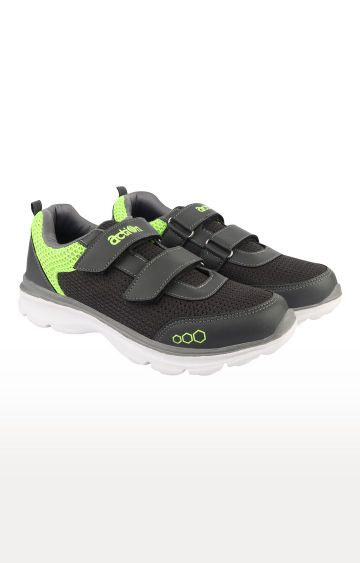 Action | Dark Grey and Green Sports Shoes