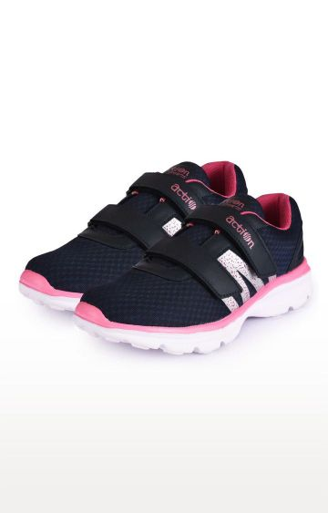 Action | Navy and Pink Running Shoes