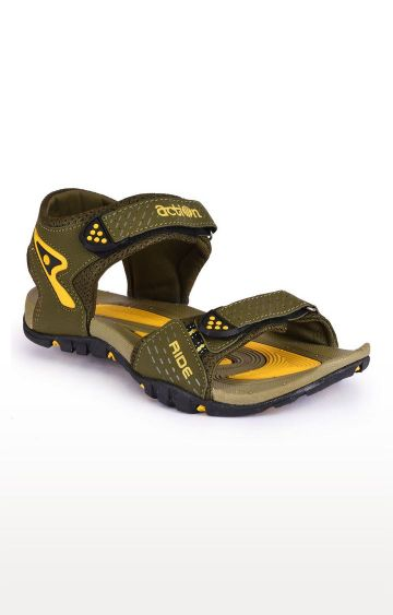 Action | Olive and Mustard Sandals