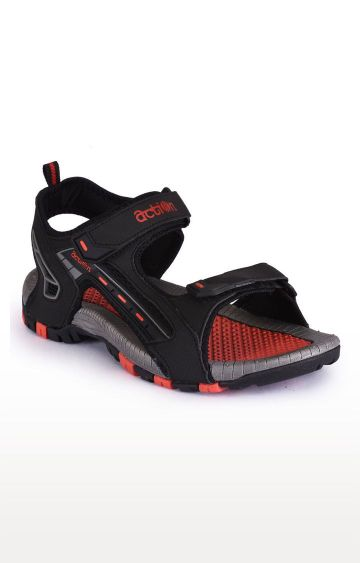 Action   Black and Red Sandals