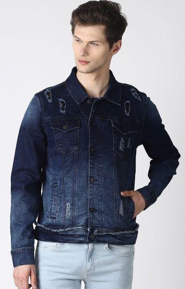 Blue Saint | Blue Ripped Denim Jacket