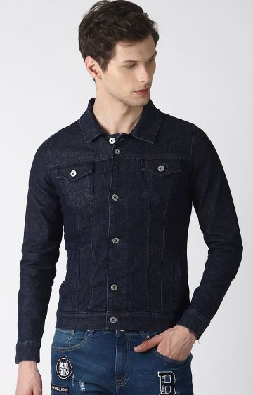 Blue Saint   Blue Solid Denim Jacket