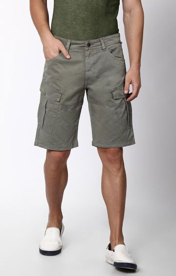 Blue Saint | Grey Solid Shorts