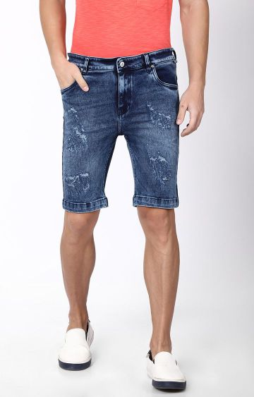 Blue Saint | Blue Ripped Shorts
