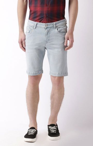 Blue Saint | Light Blue Solid Shorts