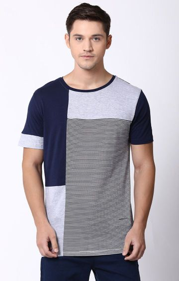 Blue Saint | Multicoloured Striped T-Shirt