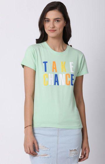 Blue Saint | Green Printed T-Shirt